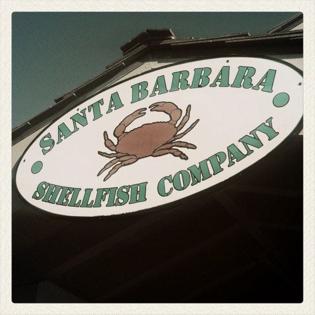 shellfish 1 - Day Two of Birthday-palooza: Santa Barbara or Bust!